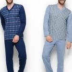 004 Dlouhé pánské pyžamo ROMAN 2XL-3XL