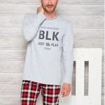 1173 Dlouhé pánské pyžamo LEON S-XL