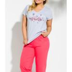 159 Krátké dámské pyžamo SYLWIA 2XL-4XL – TARO