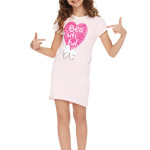 Bavlněná dívčí noční košilka Maja srdce