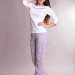 Bavlněné dámské pyžamo Panter white