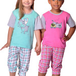 Bavlněné dětské pyžamo Doggie růžové