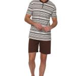 Bavlněné pánské pyžamo Felix hnědé