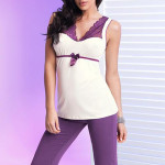 Dámské pyžamo Donna Betty II PJ 3/4 violet
