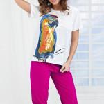 Dámské pyžamo Dorota KO-125 AMARANT
