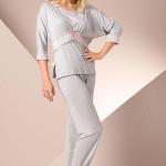 Dámské pyžamo Passion PY009 grey