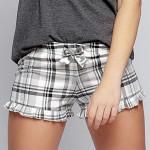 Dámské pyžamové šortky Káro šedé