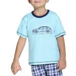 Dětské pyžamo s autem modré