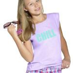 Dívčí pyžamo Chill fialové