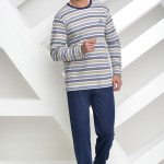 Dlouhé pánské pyžamo Max béžové