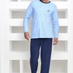 Froté pánské pyžamo Adrian modré