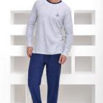 Froté pánské pyžamo Adrian šedé