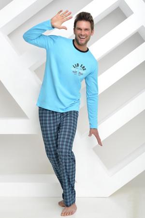 edbecc04b099 Pánské pyžamo František dlouhé modré