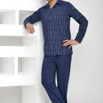 Pánské pyžamo Gabor proužek knoflíky