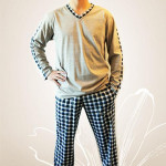 Pánské pyžamo Nelly Robin 1019 DL 3XL