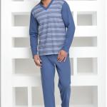 Pánské pyžamo Roman modré proužek