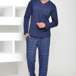 Pánské pyžamo Timon tmavě modré dlouhé