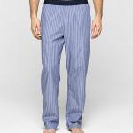 Pyžamové kalhoty NM1035E – modrá – Calvin Klein