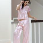 Saténové pyžamo Ewa růžové