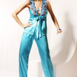 Saténové pyžamo M702-Miran