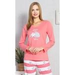 Dámské dlouhé pyžamo Kočka Luisa – Vienetta