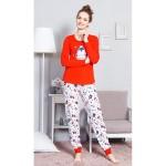 Dámské dlouhé pyžamo Tučňák s korunkou – Vienetta