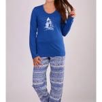 Dámské pyžamo dlouhé Sněhulák – Vienetta