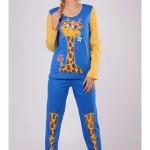 Dámské pyžamo dlouhé Velká žirafa – Vienetta