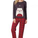 Dámské pyžamo s medvídkem Teddy fialové