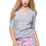 Dámské pyžamo Samanta růžové káro
