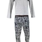 Pánské pyžamo U91X02 JR03O – L999 šedočerná – Guess