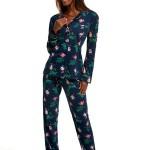 Dámské pyžamo Cornette 682/208 Roses 5 dł/r S-2XL