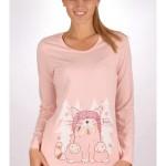 Dámské pyžamo dlouhé Kotě s čepicí