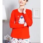 Dámské pyžamo dlouhé Tučňák s korunkou