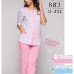 Dámské pyžamo Regina 883 kr/r 2XL-3XL