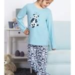 Dětské pyžamo dlouhé Dvě pandy