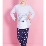 Dětské pyžamo dlouhé Méďa Ospalec