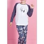 Dětské pyžamo dlouhé Panda na měsíci