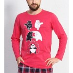 Pánské pyžamo dlouhé Panda
