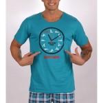 Pánské pyžamo šortky Kamasutra clock