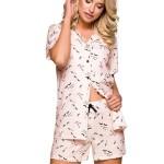 Dámské pyžamo Amy lososové s knoflíčky