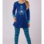 Dámské pyžamo dlouhé Hrdličky 3216 – Vienetta