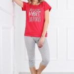 Dámské pyžamo Muzzy More 3201 kr/r S-XL