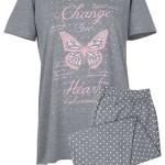 Dámské pyžamo Muzzy Motýl 0261 kr/r XL-4XL
