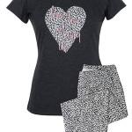 Dámské pyžamo Muzzy Srdce 3768 kr/r S-XL