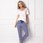 Dámské pyžamo Aruelle Blumy Long kr/r S-XL