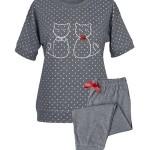 Dámské pyžamo Muzzy Koty 8104 kr/r