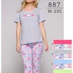 Dámské pyžamo Regina 887 kr/r 2XL