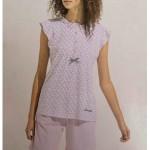 Dámské krátké pyžamo FA6755 červená – Noidinotte