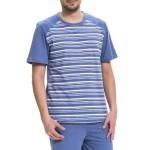 Pánské bavlněné pyžamo Rudolf modré